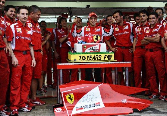 Felipe Massa e la Ferrari: Una storia lunga 100 Gran Premi