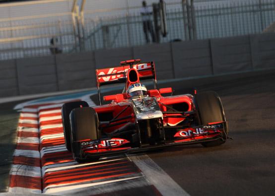 Virgin: Timo Glock davanti alle HRT ad Abu Dhabi
