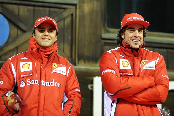 Nuova Ferrari F1: Prove di sedile per Alonso e Massa