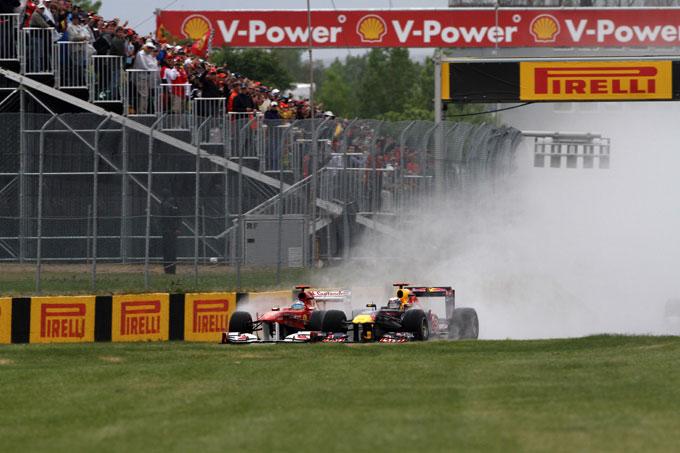 La FIA ha modificato la regola del DRS con le gomme da bagnato