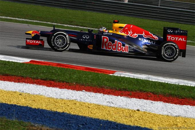 Red Bull, Vettel spera nelle gomme dure a Sepang