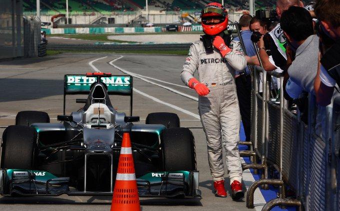 """Mercedes, Schumacher: """"Possiamo essere competitivi anche in gara"""""""