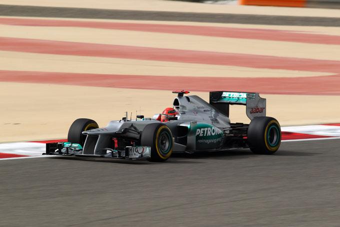GP Bahrain, Schumacher penalizzato di cinque posizioni in griglia