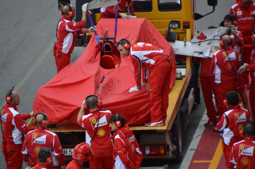 Test Mugello, incidente per Alonso
