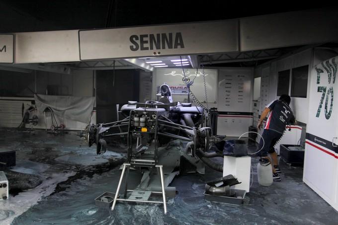 Bruno Senna correrà a Monaco con la Williams danneggiata nell'incendio di Barcellona