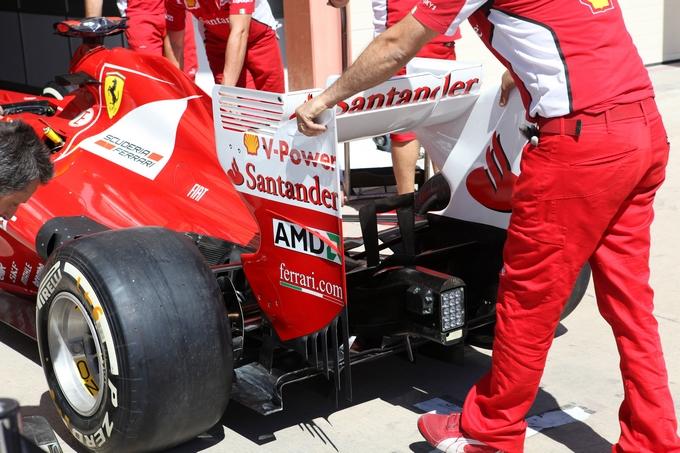 Test aerodinamici della Ferrari in Spagna