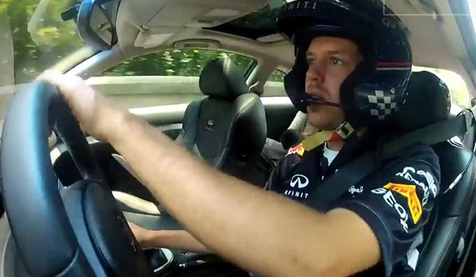 Sebastian Vettel sul circuito cittadino del New Jersey