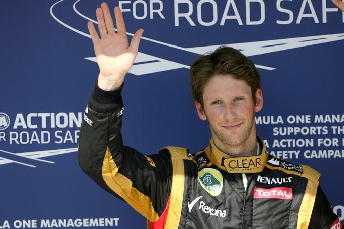 """Grosjean: """"E' speciale partire dalla prima fila"""""""