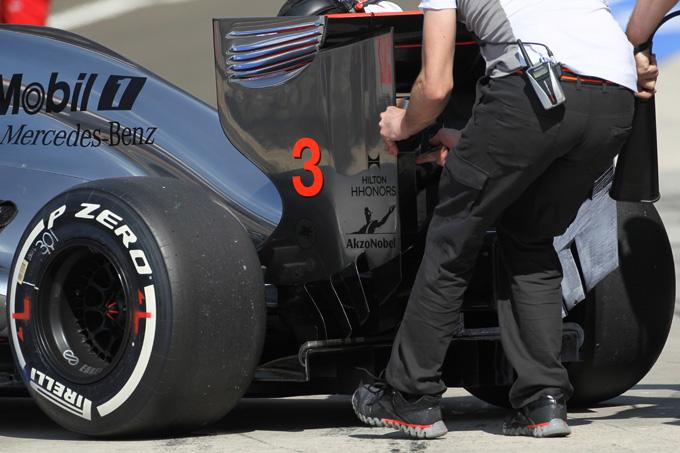 Anche la McLaren con il double DRS a Spa