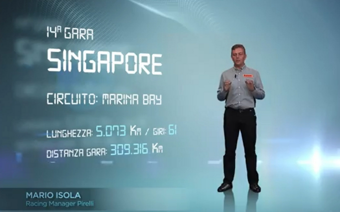 Pirelli: La sfida che attende gli pneumatici Pirelli sul circuito cittadino di Singapore