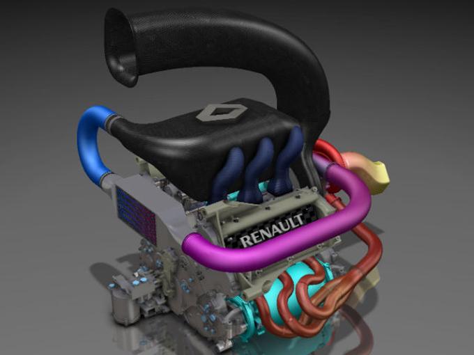 Renault svela il suo motore di F1 per il 2014