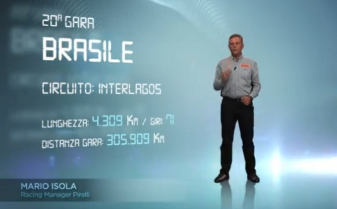 Video 3D. Pirelli: Il circuito di Interlagos dal punto di vista degli pneumatici
