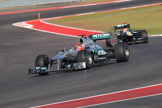 Mercedes: Schumacher sesto in qualifica ad Austin, Rosberg fuori in Q2