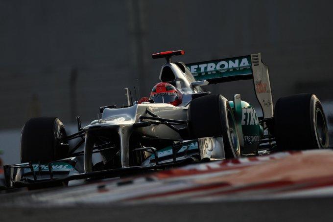 """Mercedes, Schumacher: """"Un normale venerdi qui ad Abu Dhabi"""""""