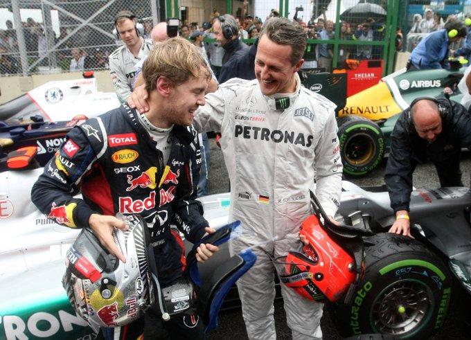 """Schumacher si congratula con Vettel: """"Sono orgoglioso di lui. E' un buon amico"""""""