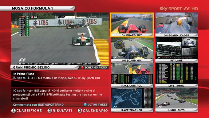 F1 su Sky: tutte le novità