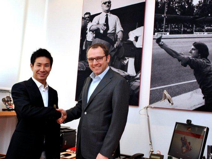 Kamui Kobayashi è un pilota della Ferrari ma non in Formula 1