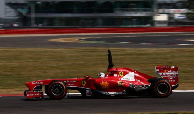 Ferrari: prima giornata di prove sul circuito di Silverstone