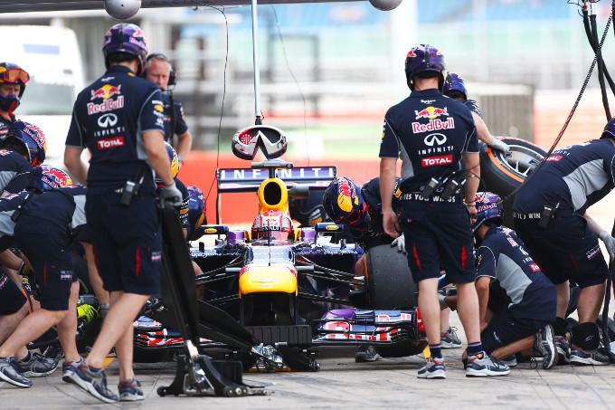 La Red Bull è la più veloce nei pitstops