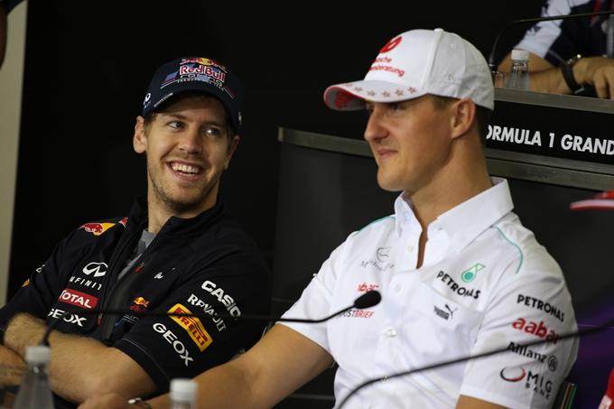 """Schumacher incoraggia Vettel: """"Può battere i miei record"""""""