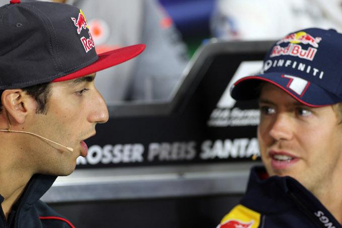 """Vettel: """"L'arrivo di Ricciardo in Red Bull avrebbe senso"""""""