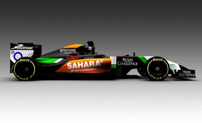 La livrea della Force India per la stagione 2014 di Formula 1