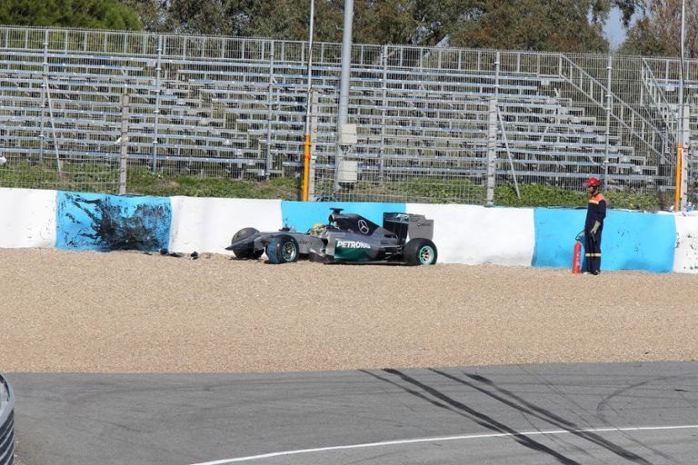 Incidente Hamilton Test Jerez