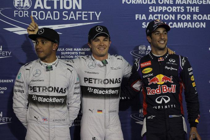 GP Bahrain: Rosberg in pole position, Ferrari indietro