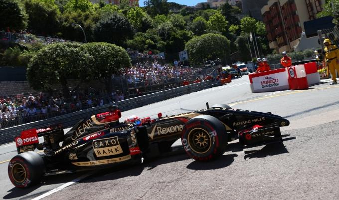 """Lotus: Grosjean, """"Non siamo abbastanza veloci qui a Monaco"""""""