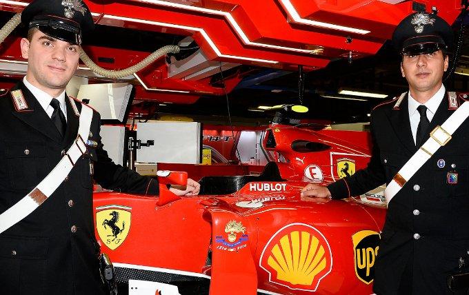 Anche a Monza la Ferrari celebra i Carabinieri