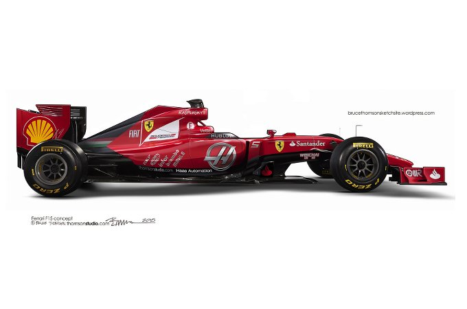 Ferrari F1 2015: nuovo rendering e indiscrezioni