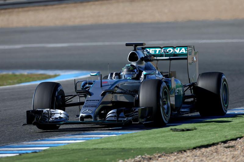 Test F1 Jerez, giorno 1: Rosberg davanti a tutti al mattino