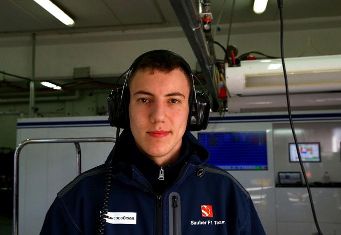 Raffaele Marciello in pista nelle libere 1 con la Sauber