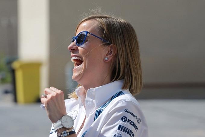Susie Wolff con la Williams nelle libere 1 di Barcellona