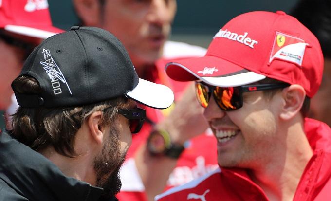 Alonso e Vettel a parimerito nella classifica dei piloti con più punti