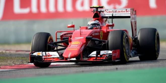 Ferrari: cinque posizioni di penalità per Raikkonen
