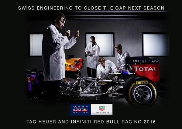 La Red Bull annuncia l'accordo con TAG-Heuer