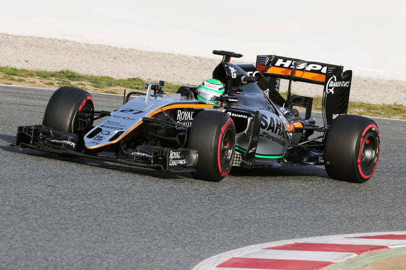Test F1 Barcellona, giorno 3: mattinata alla Force India di Hulkenberg