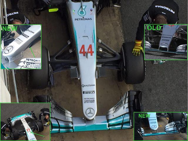 Mercedes W07: ecco il nuovo muso, ma è regolare?