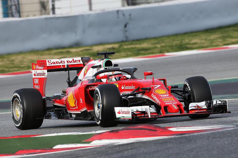 Ferrari: Raikkonen prova Halo, poi arriva il miglior tempo nei test