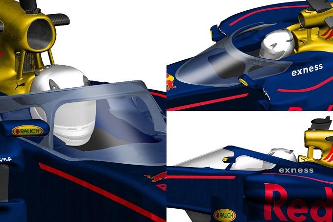 Ricciardo e Kvyat hanno testato la versione Halo della Red Bull