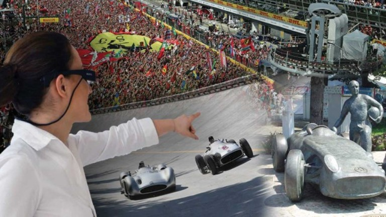 Augmented Reality Tour:  Come rivivere la storia del circuito di Monza