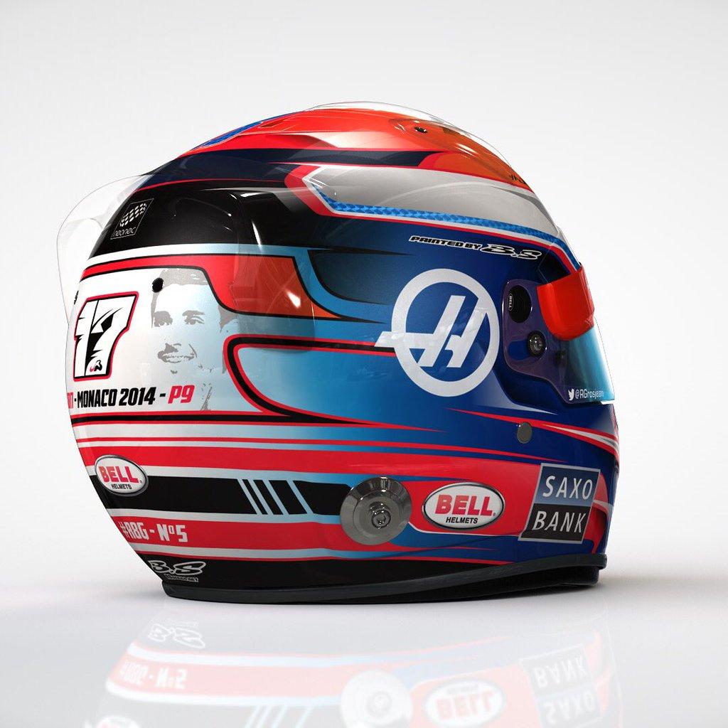 MonacoGP, Grosjean ricorda la memoria di Jules Bianchi con un casco celebrativo