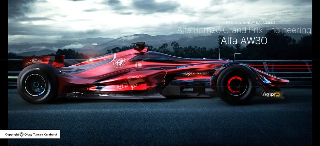 Alfa Romeo in F1: un interessante rendering futuristico