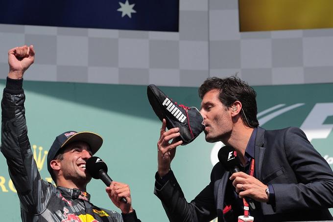 """Webber: """"Ricciardo? Sapevo che mi avrebbe chiesto di bere dalla sua scarpa"""""""