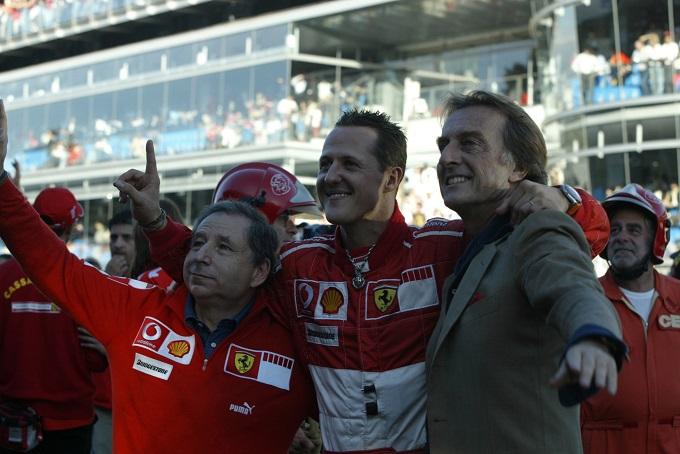 """Montezemolo: """"Michael Schumacher sta reagendo. Sono sicuro che ne verrà fuori"""""""