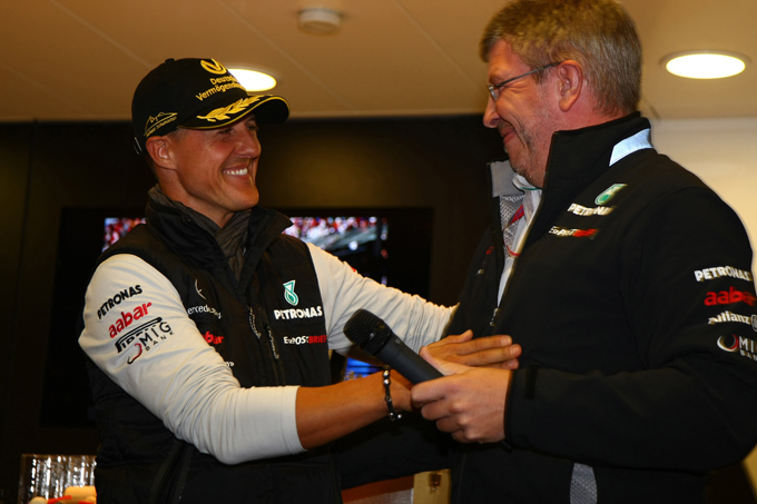 Schumacher, Ross Brawn rettifica i suoi commenti sui miglioramenti del tedesco
