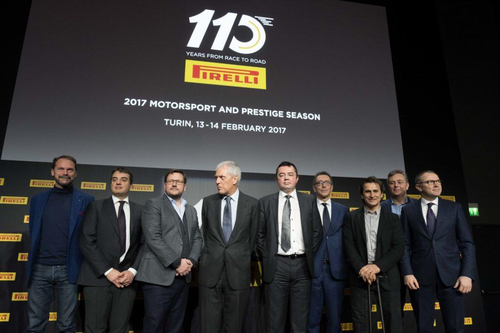 Pirelli festeggia a Torino i suoi 110 anni di motorsport