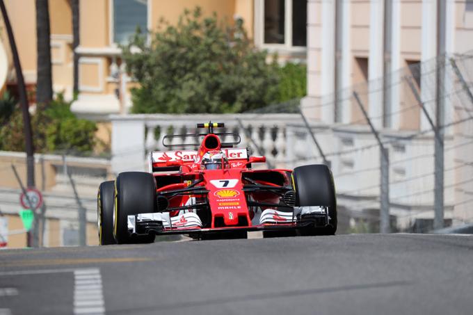 F1 GP Monaco, Qualifiche: Raikkonen in pole, prima fila tutta Ferrari