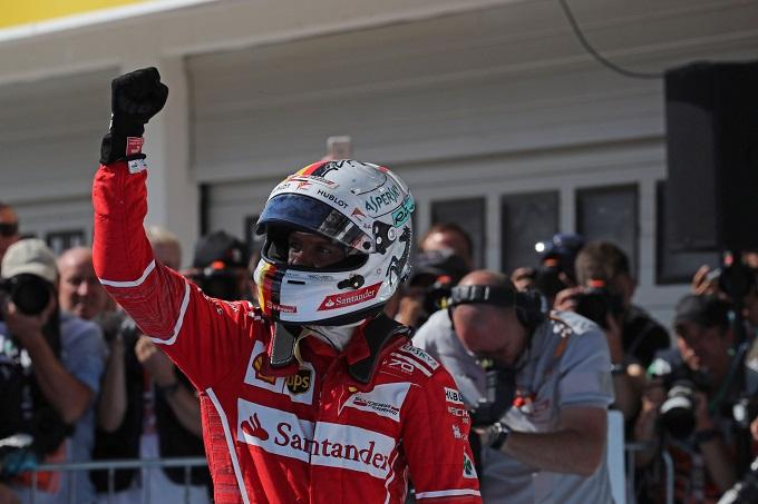 """F1   Ferrari, Vettel: """"Sognavo di essere in testa al Mondiale"""""""
